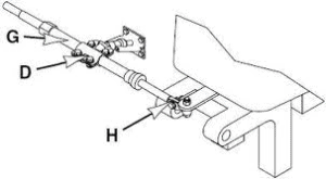 SeaStar Steering Connection Kit  Transom Support Mounting SA-27256P